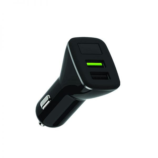 Remax QC3.USB 2.4A Car Charger With Display